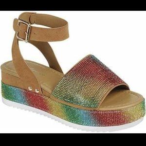 Coming Soon Rainbow glitter Sandals